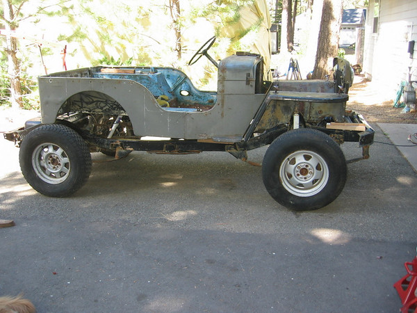heres a picture of the tub sitting on the yj frame - Yj Frame